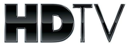 Gráfico del texto de HD TV o de la TVAD Fotos de archivo libres de regalías