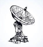 Gráfico del vector Antena de plato ilustración del vector
