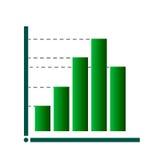 Gráfico del vector del icono de la carta Fotografía de archivo libre de regalías