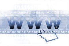 Gráfico del World Wide Web Foto de archivo