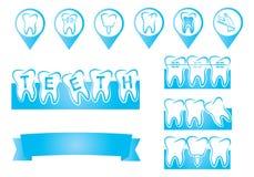Gráfico dental de la información Fotos de archivo libres de regalías