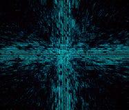 Gráfico Desktop abstrato de Programmic Vicrutal do Cyber da matriz do código da textura do projeto do papel de parede do fundo ilustração stock