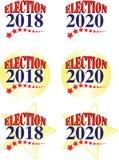 Gráfico do americano da eleição 2018 e 2020 ilustração stock