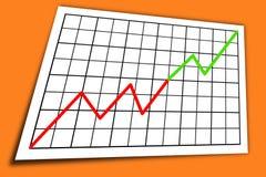 Gráfico do aumento Fotografia de Stock Royalty Free