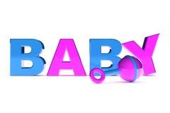 Gráfico do bebê Fotos de Stock Royalty Free
