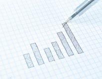 Gráfico do crescimento do desenho do sucesso Foto de Stock Royalty Free