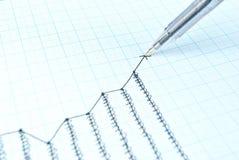 Gráfico do crescimento do desenho do sucesso Fotografia de Stock Royalty Free