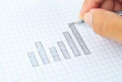 Gráfico do crescimento do desenho do sucesso Foto de Stock