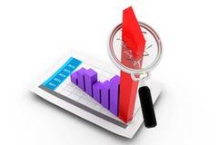 Gráfico do crescimento do negócio Foto de Stock