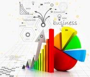 Gráfico do crescimento do negócio ilustração royalty free