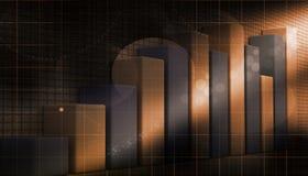 gráfico do crescimento do negócio 3d Fotografia de Stock Royalty Free