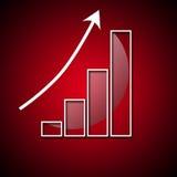 Gráfico do crescimento rápido no valor Foto de Stock Royalty Free