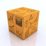 Gráfico e cartas do cubo fotos de stock