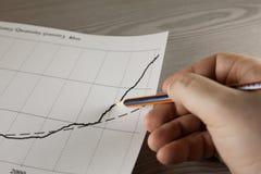 Gráfico do desenho da mão do crescimento imagens de stock royalty free