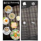Gráfico do desenho da mão do projeto do molde do restaurante do alimento do menu Imagem de Stock Royalty Free
