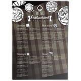 Gráfico do desenho da mão do projeto do molde do restaurante do alimento do menu Imagens de Stock Royalty Free