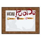 Gráfico do desenho da mão do projeto do molde do restaurante do alimento do menu Fotografia de Stock Royalty Free