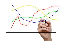 Gráfico do desenho da mulher de negócios Foto de Stock