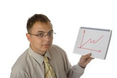 Gráfico do desenho do homem de negócios Imagens de Stock Royalty Free