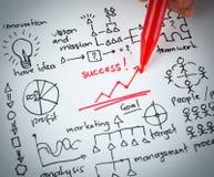 Gráfico do desenho do sucesso Fotos de Stock