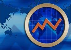 Gráfico do desenvolvimento Fotos de Stock