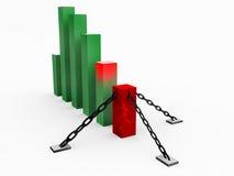Gráfico do desenvolvimento Imagens de Stock