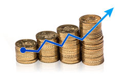 Gráfico do dinheiro Fotografia de Stock