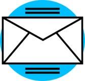 Gráfico do email Fotografia de Stock Royalty Free