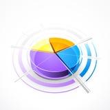 Gráfico do gráfico de sectores circulares Imagem de Stock