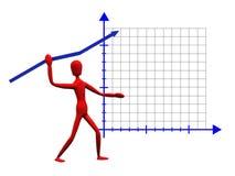 Gráfico do Javelin ilustração do vetor