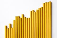 Gráfico do lápis Fotografia de Stock Royalty Free