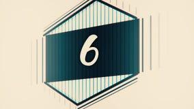 Gráfico 10 0 do líder da contagem regressiva Contagem do número de 1 a 10 Pare a animação do movimento com papel da cor Filme da  ilustração stock