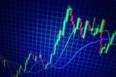 Gráfico do mercado de valores de acção Tendência dos estrangeiros foto de stock