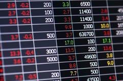 Gráfico do mercado de valores de ação Fotos de Stock