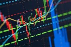 Gráfico do mercado de valores de ação Fotos de Stock Royalty Free