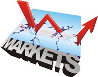Gráfico do mercado de valores de acção Imagens de Stock