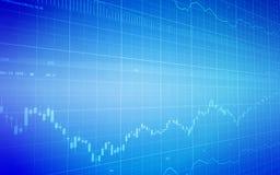 Gráfico do mercado de valores de acção Ilustração do Vetor