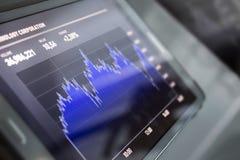 Gráfico do mercado de valores de acção Imagens de Stock Royalty Free