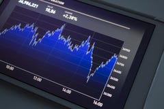 Gráfico do mercado de valores de acção Foto de Stock