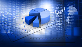 Gráfico do mercado de valores de acção Fotografia de Stock