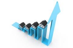 Gráfico do mercado imobiliário Imagens de Stock Royalty Free