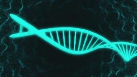 Gráfico do movimento da peça do modelo do ADN que move-se no gerencio do espaço ilustração stock