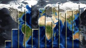 Gráfico do mundo imagens de stock