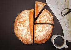 Gráfico do pão Fotografia de Stock
