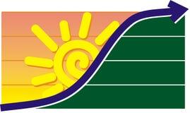 Gráfico do por do sol ou do nascer do sol Ilustração Stock