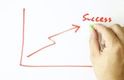 Gráfico do sucesso Imagens de Stock Royalty Free