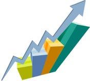 Gráfico do sucesso Fotos de Stock Royalty Free