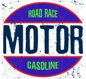 Gráfico do T do logotipo da motocicleta Imagens de Stock Royalty Free