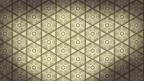 Gráfico do teste padrão do papel de parede do ornamento floral do vintage de Ecru ilustração royalty free