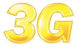 gráfico do texto 3G Imagens de Stock Royalty Free